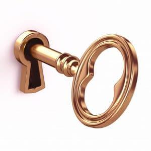 serrure et clé