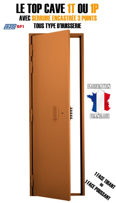 Porte de cave blind e l 39 as de la serrurerie for Porte cave blindee